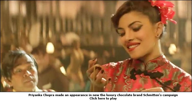 Priyanka Chopra made an appearance in new luxury chocolate brand Schmitten's campaign