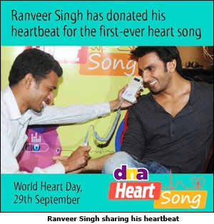 Ranveer Singh sharing his heartbeat