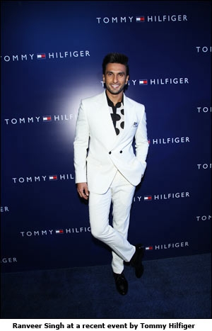 Ranveer Singh at a recent event by Tommy Hilfiger