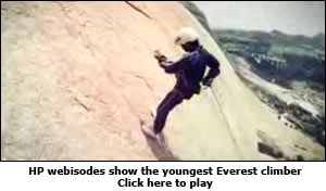 HP webisodes show the youngest Everest climber