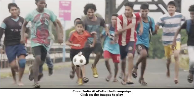 Cmon India #Let'sFootball campaign