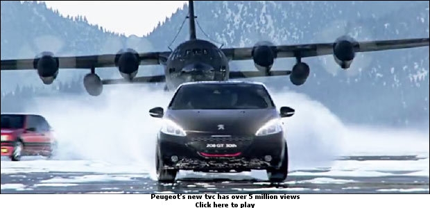 Peugeot 's new TVC has over 5 million views