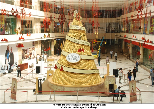 Ferrero Rocher's first giant Iconic pyramid in Gurgaon