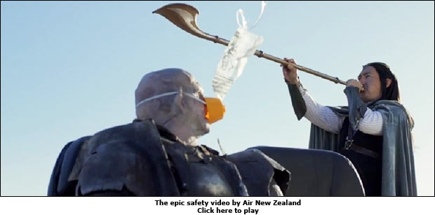 The epic safety video by Air New Zealand