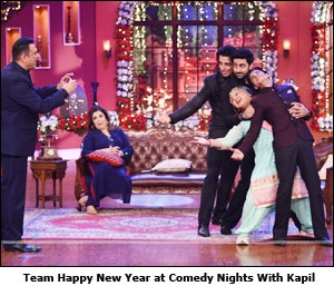 Team Happy New Year at Comedy Nights With Kapil