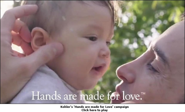Kohler's 'Hands are made for Love' campaign