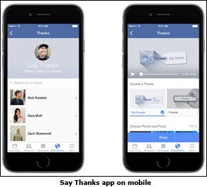 Say Thanks app on mobile