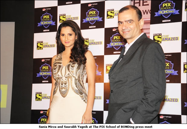 Sania Mirza and Saurabh Yagnik at The PIX School of BONDing press meet