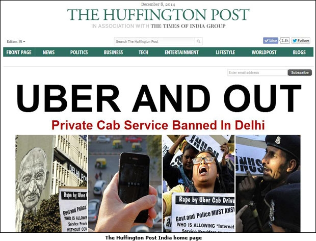 The Huffington Post India home page