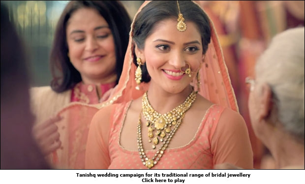Tanishq wedding campaign for its traditional range of bridal jewellery