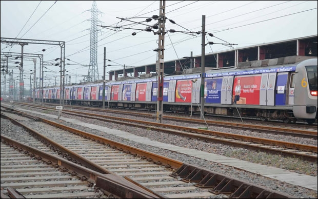 IndiaMART catches eyeballs via train wrap in Delhi NCR