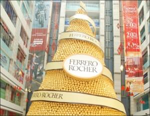 Ferrero Rocher creates Diwali pyramid