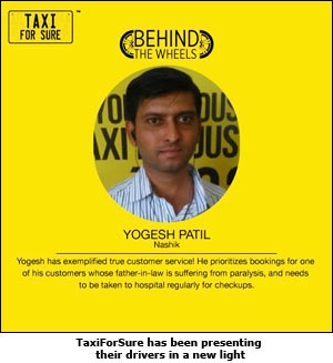 TaxiforSure has been presenting their drivers in a new light