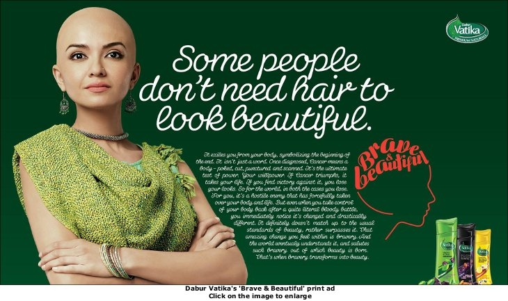 Dabur Vatika's 'Brave & Beautiful' print ad