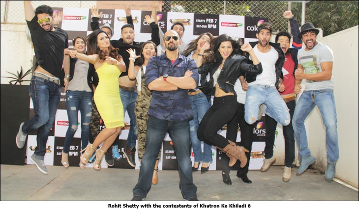 Rohit Shetty with the contestants of Khatron Ke Khiladi 6