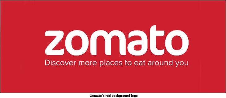 Zomato's red background logo