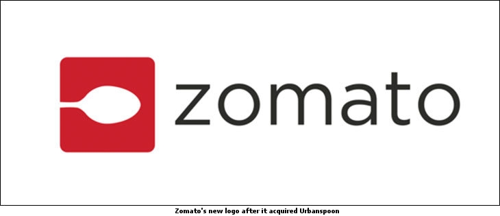 Zomato's new logo after Urban Spoon's acquisition
