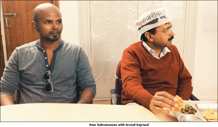 Ram Subramanian with Arvind Kejriwal
