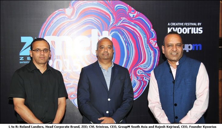 Roland Landers, Head Corporate Brand, ZEE; CVL Srinivas, CEO, GroupM South Asia and Rajesh Kejriwal, CEO, Founder, Kyoorius