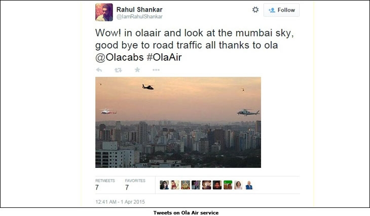 Tweets on Ola Air service