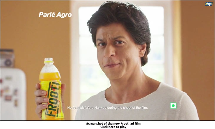 Screenshot of the new Frooti ad film