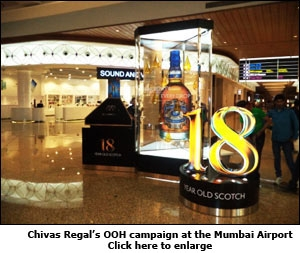 Chivas Regal's OOH campaign at the Mumbai Airport