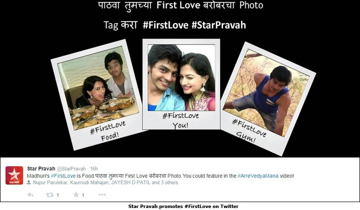 Star Pravah promotes #FirstLove on Twitter