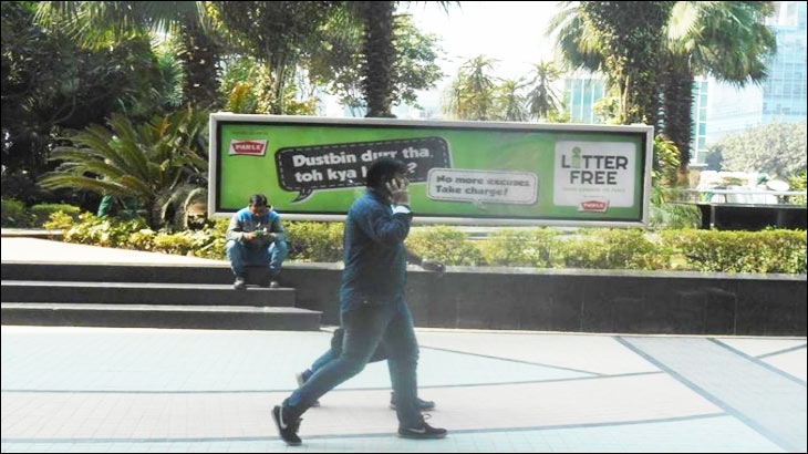 Parle's 'Litter Free' out-of-home campaign