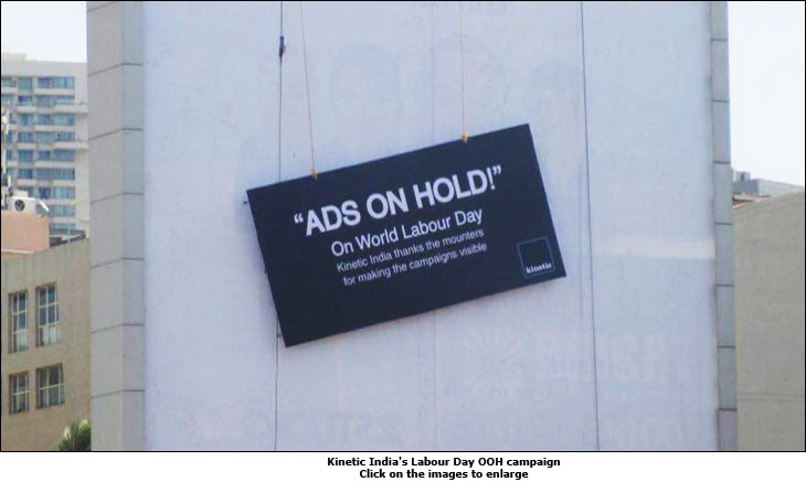Kinetic India's Labour Day OOH campaign