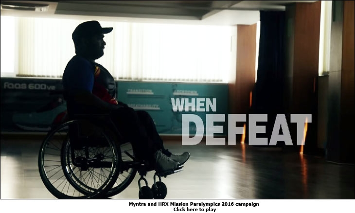 Myntra and HRX Mission Paralympics 2016 campaign
