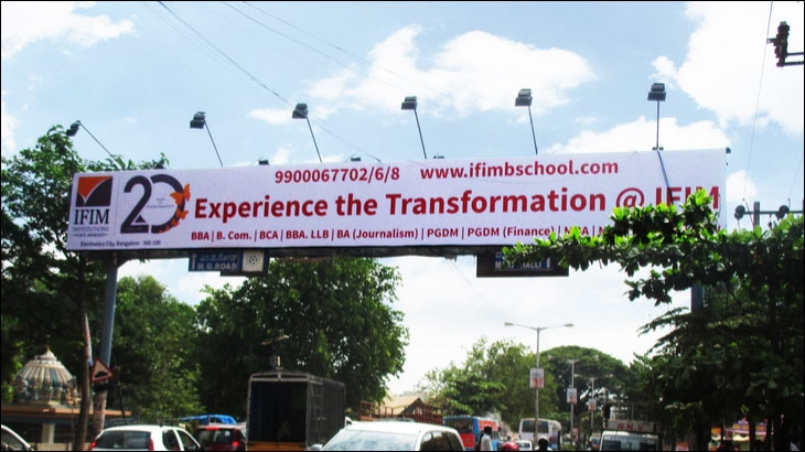 OOH campaign from IFIM Institution
