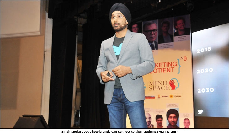 Singh spoke about how brands can connect to their audience via Twitter