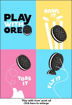 'Play with Oreo' print ad