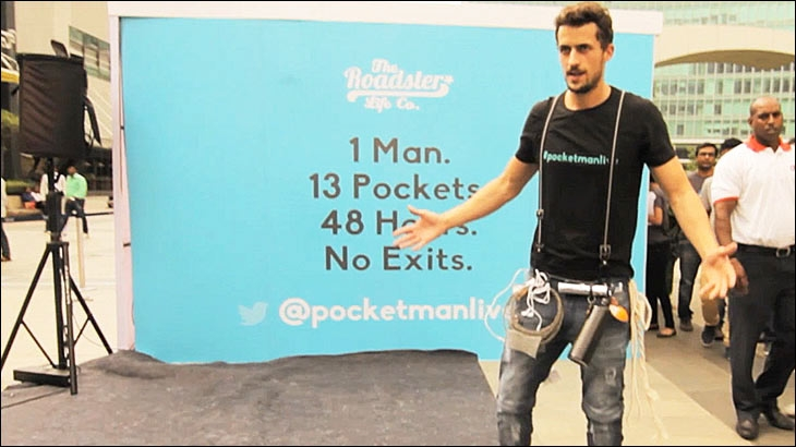 Myntra's campaign for Pocketman Jeans