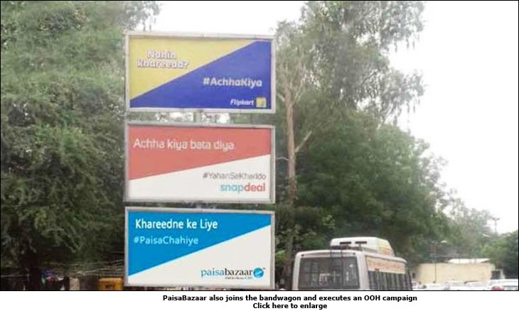 PaisaBazaar also joins the bandwagon and executes an OOH campaign