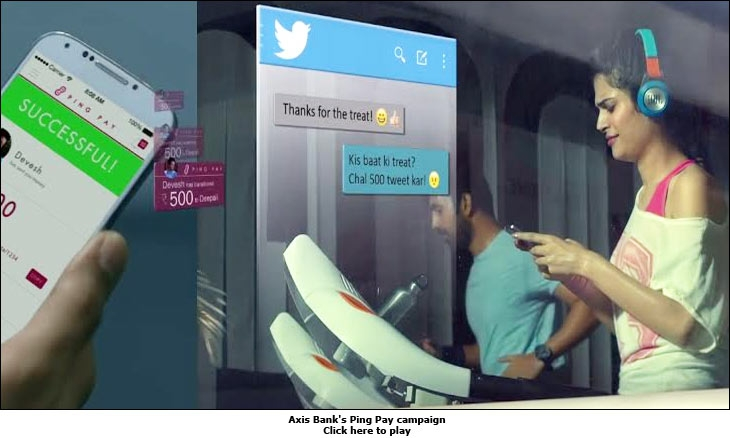 Axis Bank's Ping Pay campaign