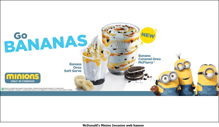McDonald's  Minion Invasion web banner