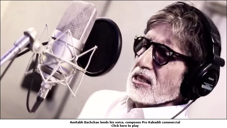Amitabh Bachchan lends his voice, composes Pro Kabaddi commercial