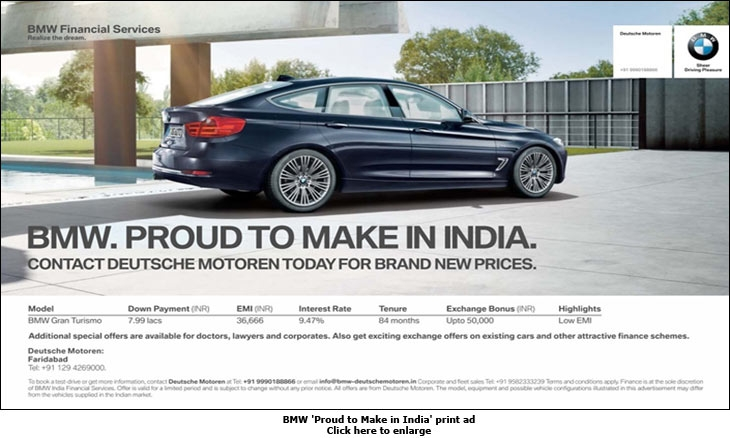 Quot Media In India Is Really Expensive Quot Bmw
