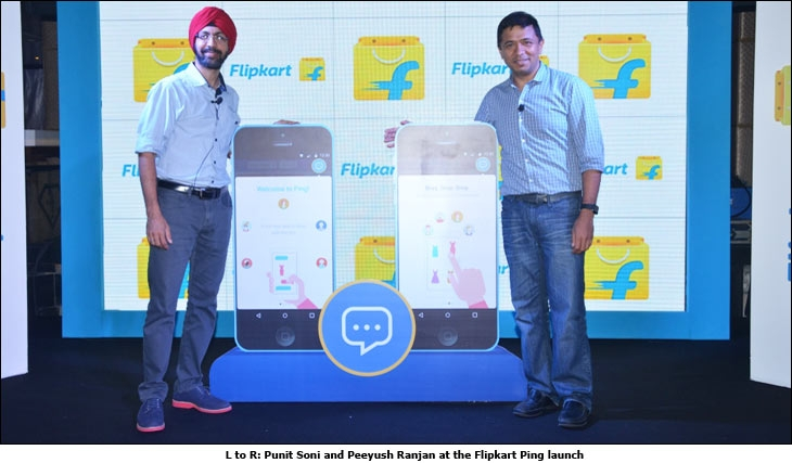 Punit Soni and Peeyush Ranjan at the Flipkart Ping launch