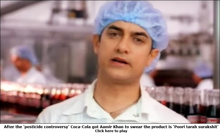 After the 'pesticide controversy' Coca-Cola got Aamir Khan to swear the product is 'Poori tarah surakshit'