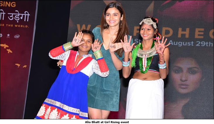 Alia Bhatt at Girl Rising event