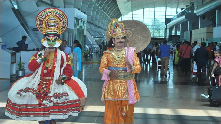 Onam celebration at Thiruvananthapuram airport