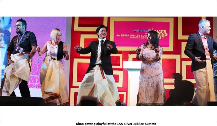 Khan getting playful at the IAA Silver Jubilee Summit