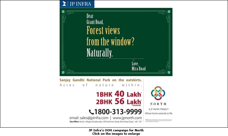 JP Infra's OOH campaign for North