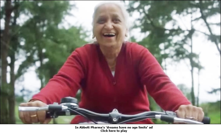 In Abbott Pharma's 'dreams have no age limits' ad