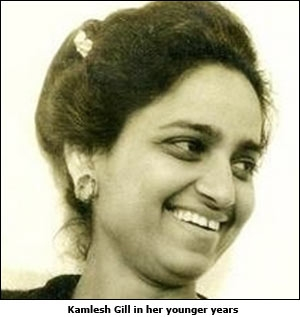 Kamlesh Gill in her younger years