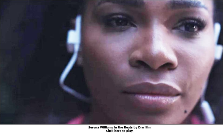 Serena Williams in the Beats by Dre film