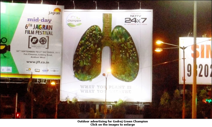 Outdoor advertising for Godrej Green Champion