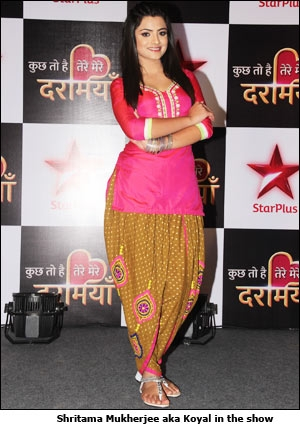 Shritama Mukherjee aka Koyal in the show' at the press meet in Mumbai